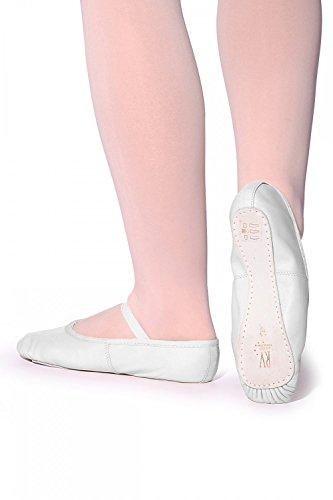Roch Valley Ophelia exterior de piel suela zapatos de Ballet blanco - blanco