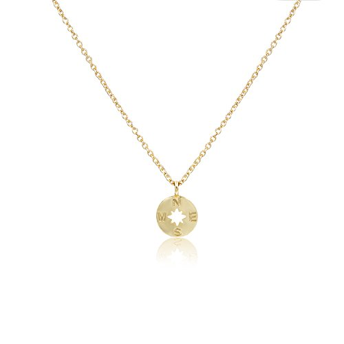 Boosic Going Places Compass Pendent Necklace With Message Card Best Gift