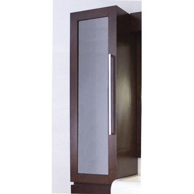 American Imaginations 282 14-Inch by 45-Inch American Birch Wood Reversible Door Wall Curio, Walnut Finish