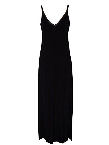 Nueva ASOS negro tiras verano maxi vestido negro negro 40