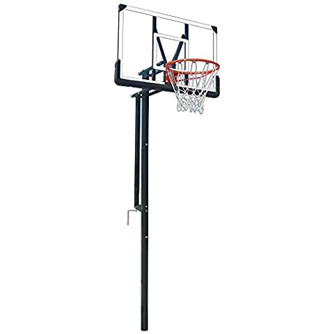 First Team Intruder Adjustable In-Ground Basketball Hoop with 44in Acrylic Backboard