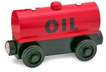 Red Oil Tanker - Thomas & Friends Wooden Railway Tank Train Engine - Brand New -