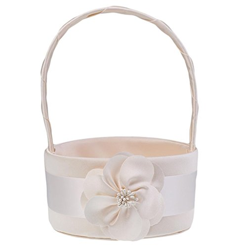 Satin Bud Flower Wedding Party Girl Basket Ceremony Permanent Wonderful Memory For Your Big Day