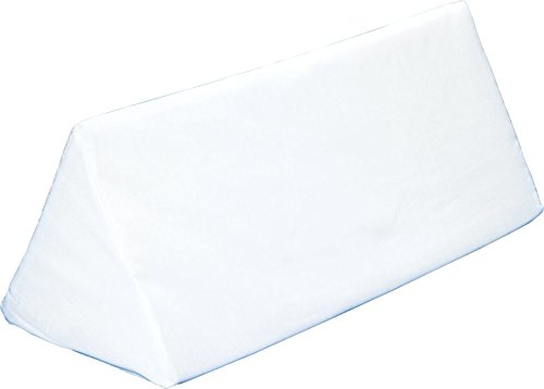 Multi-use Body Aligner Wedge Cushion - Helps Maintain Laying Position, Especially For Side Sleepers - White - By Hermell Products (Side Wedge)