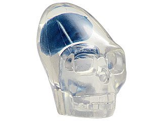 Lego Indiana Jones x1 Crystal Skull Blue Brain 7196 7627 7628 Clear Head Minifigure Minifig Akator NEW.