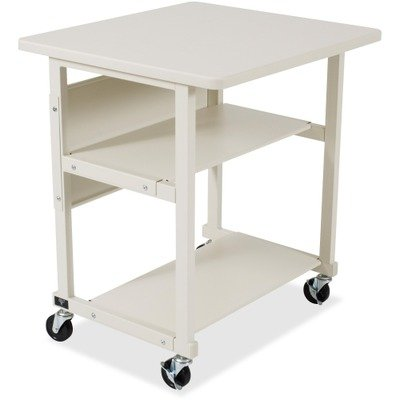 BALT 22601 Heavy-Duty Mobile Printer Stand w/3 Shelves, 27w x 25d x 27-1/2h, Gray by Balt
