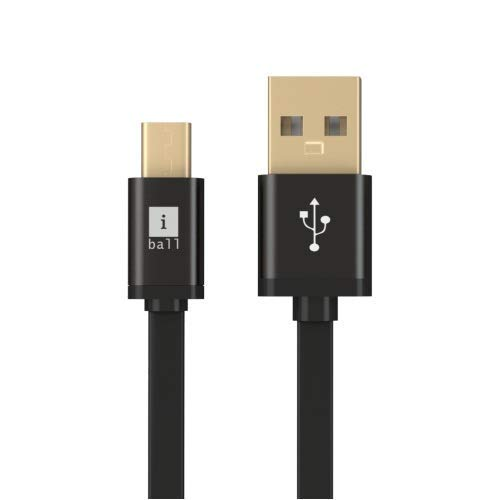 iBall  iC MRT09   Charge  amp; Sync  Fast Charging Data Cable  Black