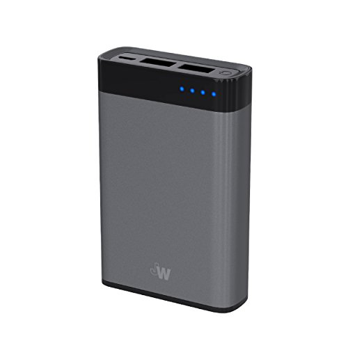 Just Wireless Portable Charger Power Bank External Battery Pack 6,000mAh Phone Charger for Apple iPhone Including XS, XS Max, XR, X, 8, 8 Plus, iPad, iPod, Samsung Galaxy and More - Space Grey
