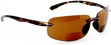 Maui Island Polarized Bifocal Reading Sunglasses with Polycarbonate Lens for Men and Women Wrap-Around Magnifier Sun Readers by FLORIDA GLASSES (Strength +2.00)