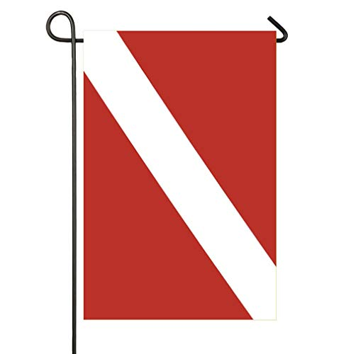 AnleyGardeflagsU Lecintevro Scuba Diver Down Flag Garden Flag 12 x 18 Inch Double Sided Home Decor