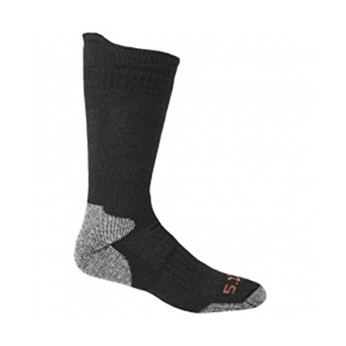 5.11 10023-019-S Merino Crew Socks, Black, Small