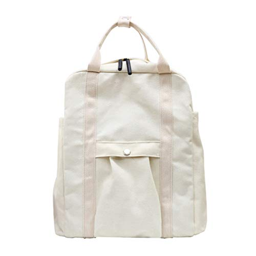 Vhvcx di scuola grande unisex bambini solido per ragazze di da zaino borse nero bianco tela adolescenti capacit T1cuKFJ3l5