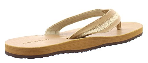 Hemp Toe Indoor Thong 9 Tan Beach Leo Toe Lightweight Open Outdoor Sandal Flops Mens Flip US Faux Leather Jute Gold and w0Sq7Zz1