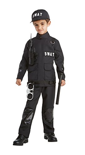 Career Day Swat Costume, Small 4-6