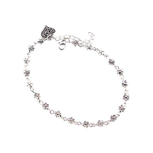 Orcbee  _Women Silver Bead Chain Anklet Ankle Bracelet Barefoot Sandal Beach Foot from 💗 Orcbee 💗 _Jewelry & Watches