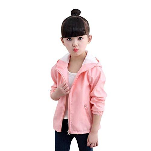 Taille Rose Et 110 Enfants Zhrui Capuche couleur Sweat Rose À qBvg7