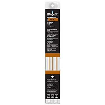Bernzomatic WB5 Bronze Flux Coated Brazing/Welding Rod, 4-Piece - Brazing Rod For Steel - .com