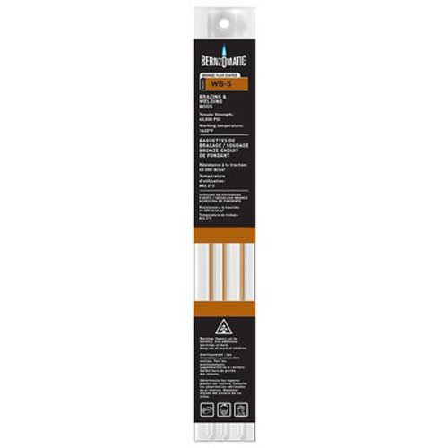 Bernzomatic WB5 Bronze Flux Coated Brazing/Welding Rod, 4-Piece