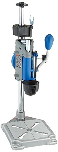Dremel Drill Press Rotary Tool Workstation Stand with Wrench- 220-01- Mini Portable Drill Press- Tool Holder- 2 inch Drill Depth- Ideal for Drilling Perpendicular and Angled Holes- Table Top Drill (Cut Safety Speed Router)