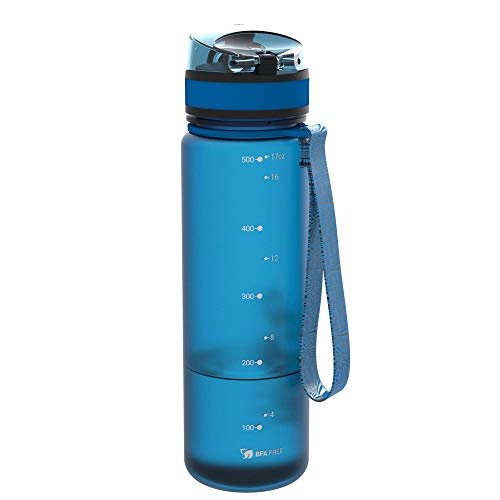 500ml 18oz BPA Free Ion8 Leak Proof Slim Water Bottle