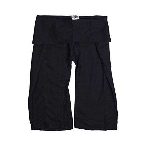 Lofbaz Kids Thai Rayon Fisherman Pants Solid Black 6/7Y (Aladdin Harem Girls)