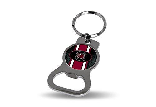 (Rico NCAA South Carolina Bottle Opener Key Tag, 4 x 3, Logo Color)