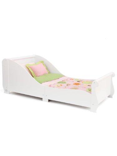 KidKraft blanco trineo Junior cama infantil Plus Deluxe colchón de espuma: Amazon.es: Hogar