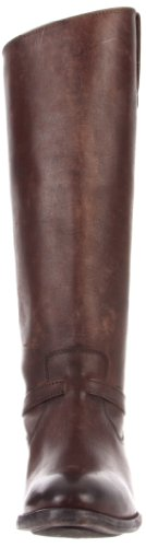 FRYE Women's Knee Boot Plate Wash Brown Leather 76975 Stone Lindsay Dark High 7Bqx7Sw