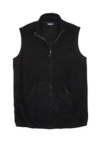 KingSize Men's Big & Tall Explorer Fleece Zip Vest, Black (Big Tall Mens Outerwear)