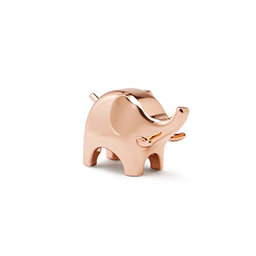 Umbra Anigram Elephant Ring Holder for Jewelry, Copper,