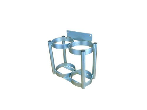 - FWF OXYGEN WALL MOUNT RACK HOLDS 2 (D OR E STYLE) CYLINDERS DIAMETER 4.3