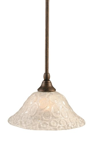 - Toltec Lighting 23-BRZ-431 Stem Mini-Pendant Light Bronze Finish with Italian Bubble Glass, 10-Inch