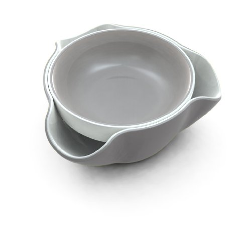 Joseph Joseph DDWGR010GB Double Dish Pistachio Bowl and Snack Serving Bowl, Gray