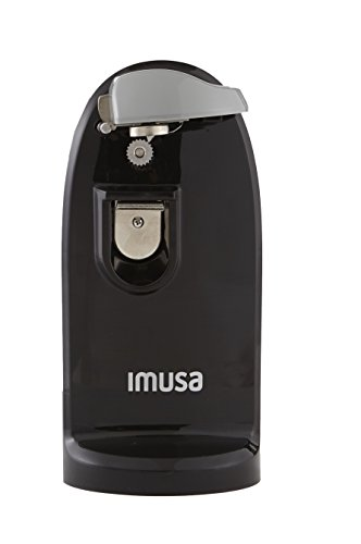 IMUSA USA GAU-80322B Electric Can Opener with Bottle Opener and Knife Sharpener, Black by Imusa