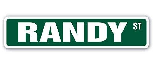 Cortan360 RANDY Street Sign Childrens Name Room Sign| Indoor/Outdoor | 8