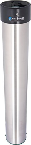 San Jamar C3200E Stainless Steel Surface Mount Beverage Foam Cup Dispenser, Fits 6oz to 10oz Cup Size, 2-7/32
