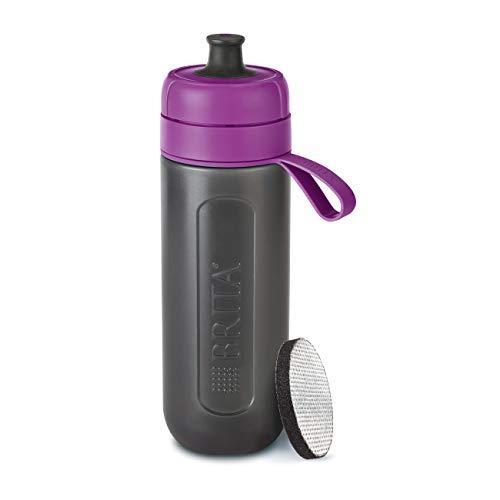 BRITA waterfilterfles fill&go Active lila – robuuste sportdrinkfles met waterfilter voor onderweg van BPA-vrije…
