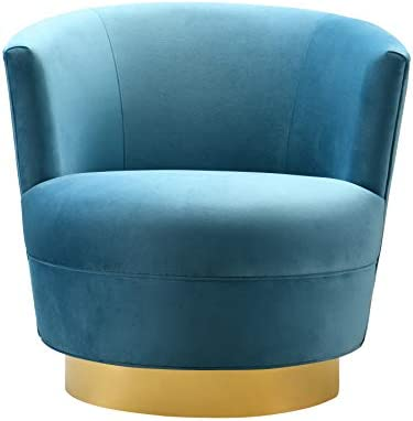 TOV Furniture The Noah Collection Modern Velvet Swivel Accent Chair