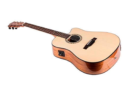 (Monoprice Idyllwild Spruce Solid Top Acoustic Electric Guitar With Fishman Pickup Tuner and Heavy-Duty Gig Bag)