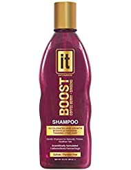 BOOST IT Shampoo for Women, 10.2oz | Infused with Biotin | Restore Thinning & Fine Hair | Instant Hair Regrowth | Dry Scalp Remedy | Natural Thicker & Healthier Hair | Sulfate & Paraben Free