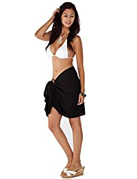 1 World Sarongs Womens Solid Half/Mini Swimsuit Sarong in your choice of color