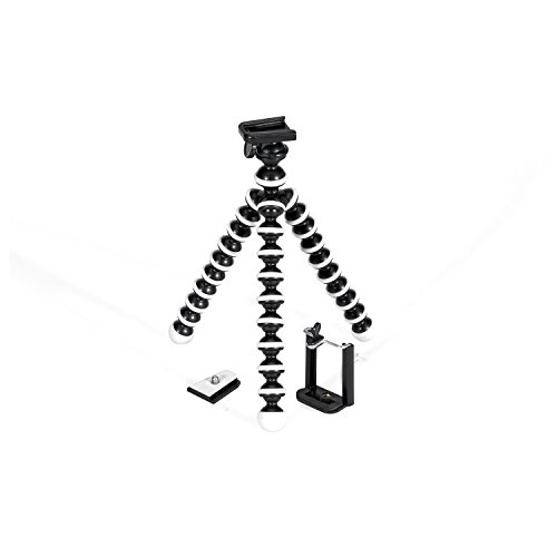GPX 10 Inch Mini Smartphone Tripod, Includes Smartphone Adapter Mounting Adapter, Max Height 9.84 Inches (TPD108B)
