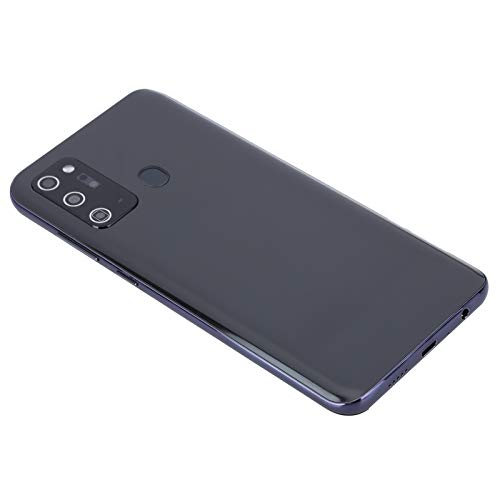 Dpofirs New Unlocked Smartphone,6.5'' LCD True Perforated Waterdrop Screen,6GB+128G Storage,Face Recognition & Fingerprint Unlock,Dual Cards Dual Standby,Dual Camera,for Android 10.0 - Black(Black)