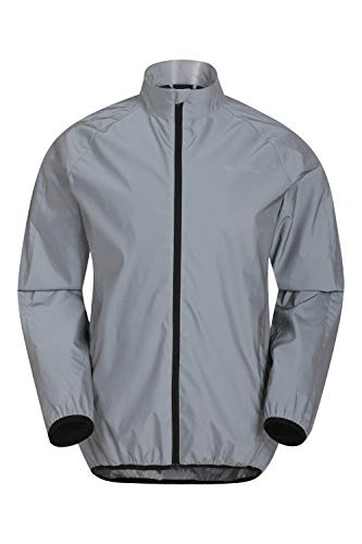 Mountain Warehouse 360 Reflective Mens Jacket – Water Resistant Unisex Rain Jacket, Breathable, Front Pockets, Full Zip…