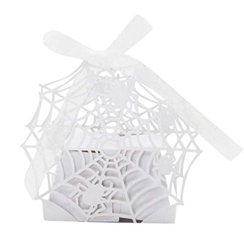 Loneflash Halloween Bags,Pumpkin Lantern Spider Trick or Treat Candy Bags Handles Gift Sacks Children Household Garden Home Decor (B) -