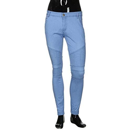 Denim Elasticizzati Blau Jeans Abbigliamento Tinta Unita Casual Casuali Uomo Fit T Aderenti Slim Skinny Pantaloni In Cowboy Da Lunghi Solid 1I0H8wPq