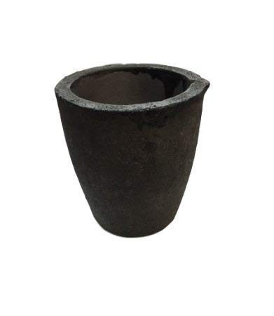 #1 1KG MegaCast, Foundry Clay Graphite Crucibles Black Cup Furnace Torch Melting Casting Refining Gold Silver Copper Brass Aluminum
