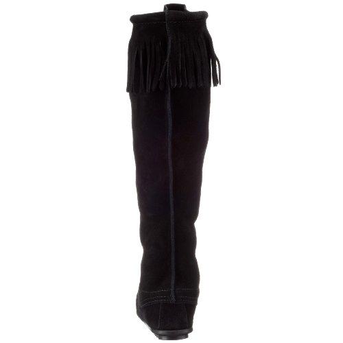 Minne Tonka frontal Mujer langschaft tipo mocasín Boots Negro