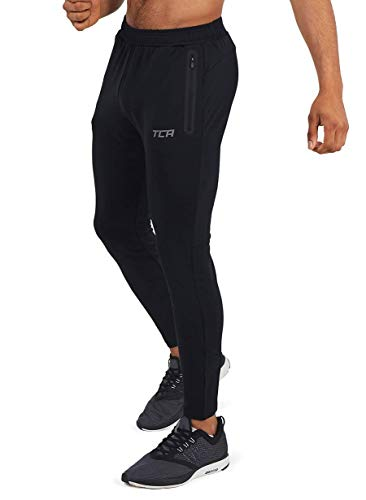 TCA Men's Rapid Quickdry Tapered Tech Training Track Pant with Zip Pockets