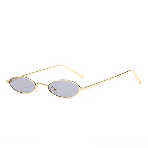 Frame For Small Yellow Small Red Retro Sunglasses Glasses Male Sun Vintage Men Metal Gris Women Oval For Round UU0xqZBp
